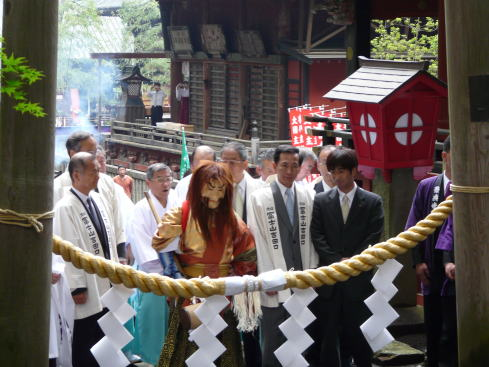 構成資産 北口浅間神社での開山祭り
