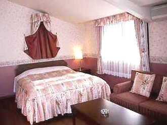 お姫様ベットと部屋露天のプレミアムダブル